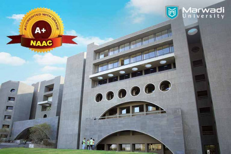 Start your career in NAAC A+ accredited university - Marwadi University Infographic