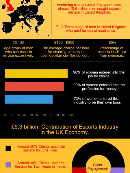Statistics of Escorts in London Infographic