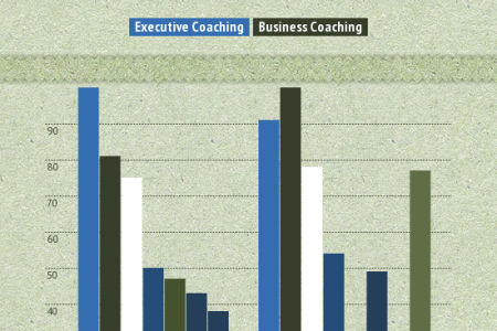 Stats between Executive Coaching and Business Coaching Infographic