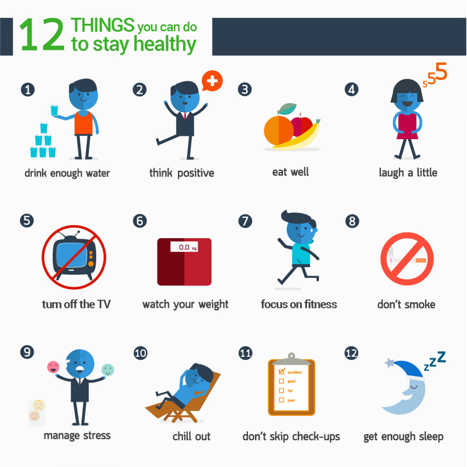 12 Things You Can Do To Stay Healthy Infographic