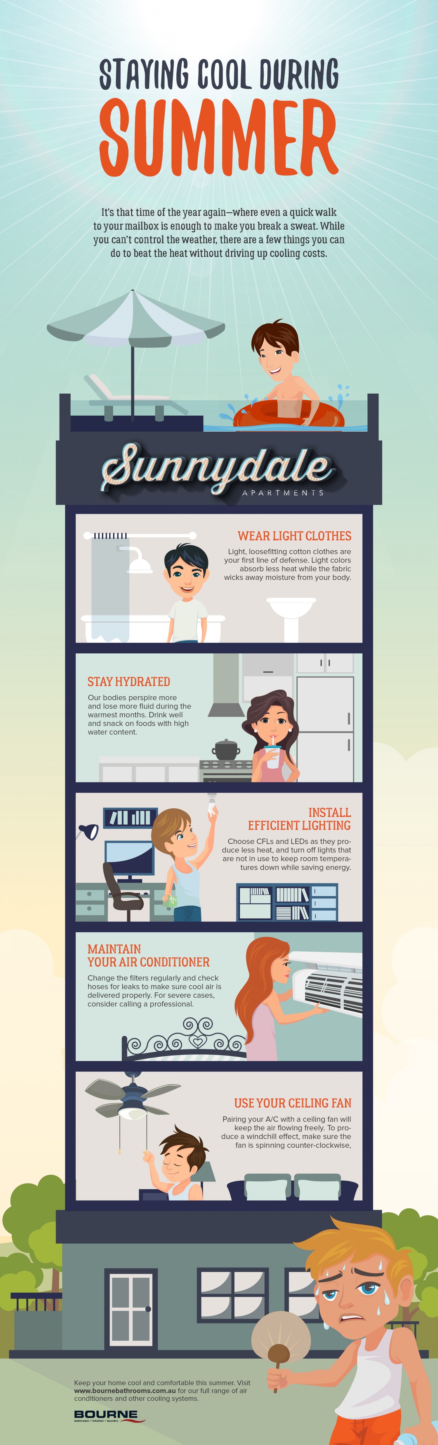 Staying Cool During Summer Infographic