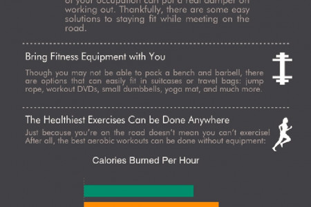 Staying Fit While Working on the Road Infographic
