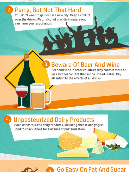 Staying Healthy While Traveling Infographic
