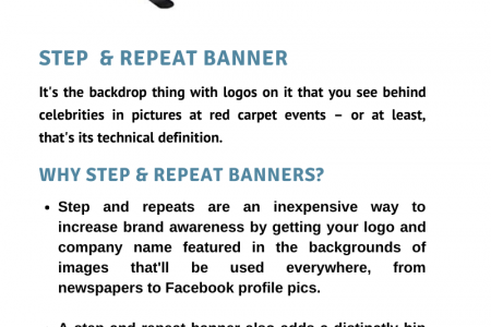 Step & Repeat Banner Infographic