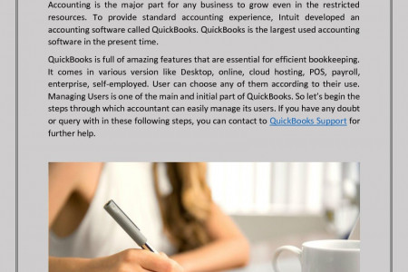 Step to manage users in QuickBooks online Infographic