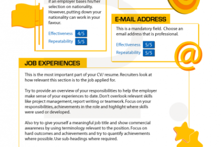 Steps To Create A Powerful CV  Infographic