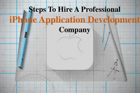 Steps To Hire A Professional iPhone Application Development Company Infographic