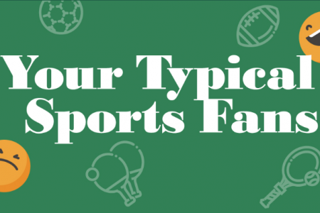 Stereotypical Sports Fans Infographic