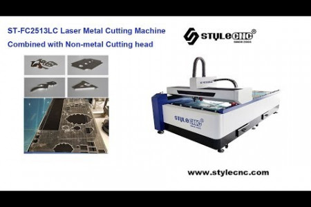 ST-FC2513LC Fiber laser cutter combined with CO2 laser cutting head Infographic
