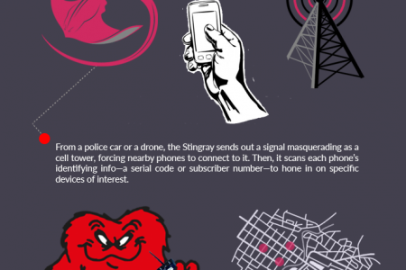 """Stingray: """"The Biggest Threat to Cell Phone Privacy"""" Infographic"""