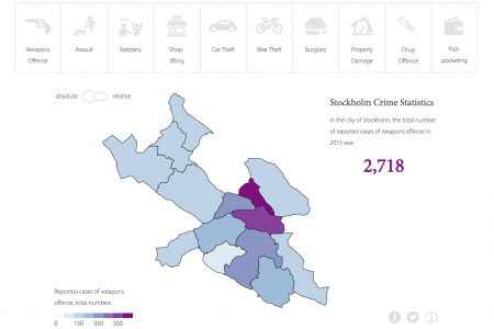 Stockholm crime map – how dangerous is your neighborhood? Infographic