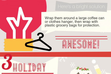 Storage ideas for your Christmas decorations Infographic