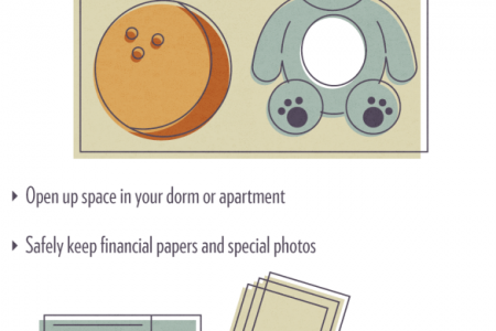 STORAGE SOLUTIONS FOR COLLEGE STUDENTS  Infographic