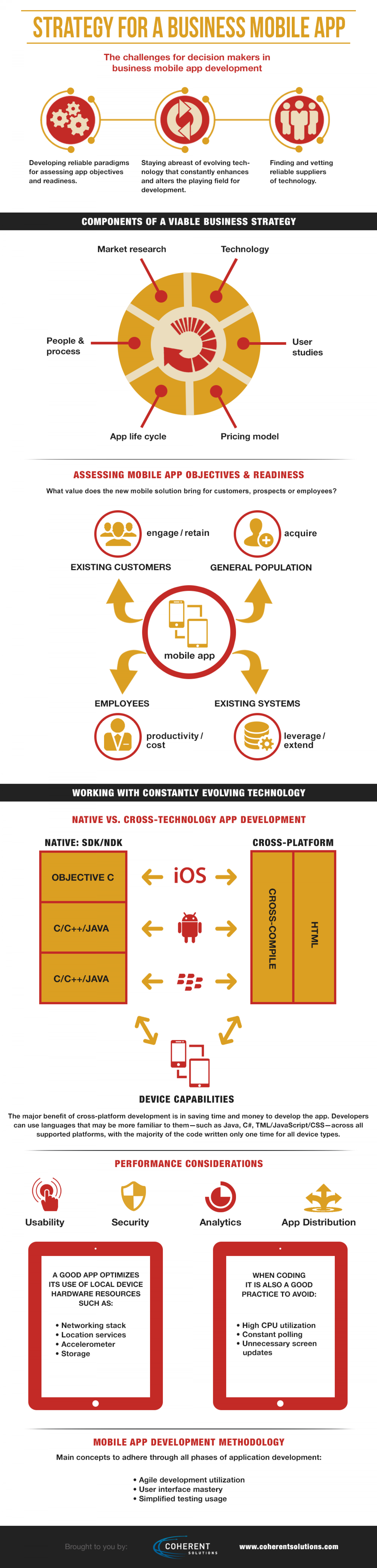 Strategy For A Business Mobile App Infographic