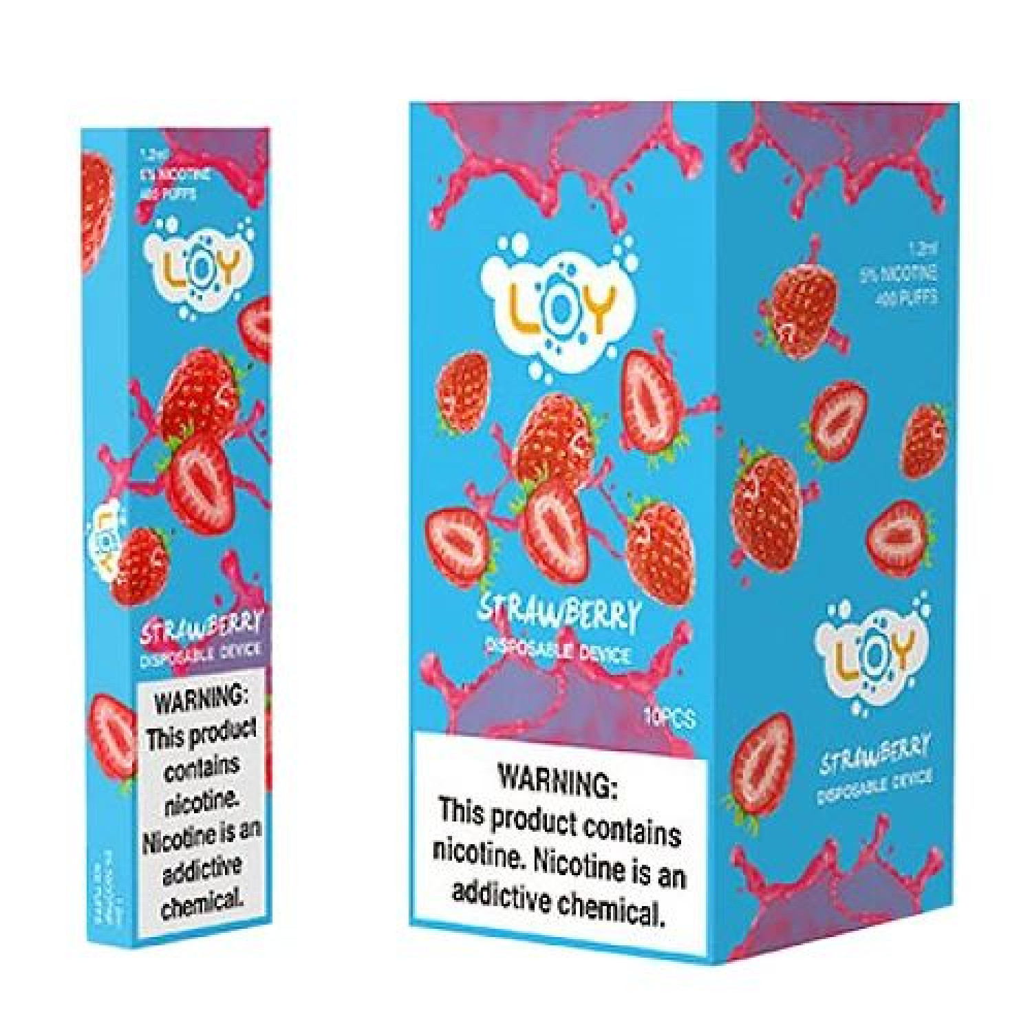 Strawberry Disposable Pod by LOY Infographic