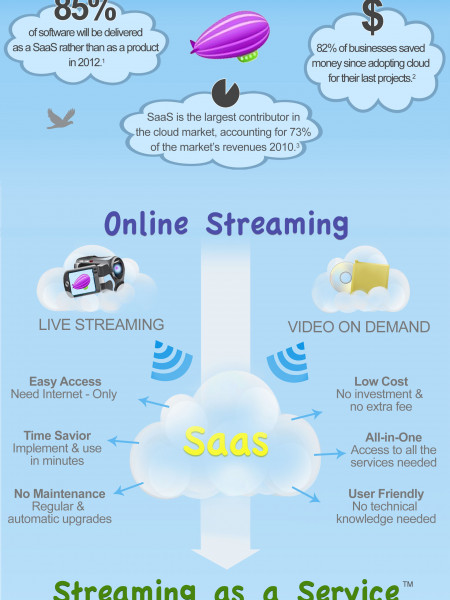 Streaming as a Service, a Video Cloud Computing Software Infographic