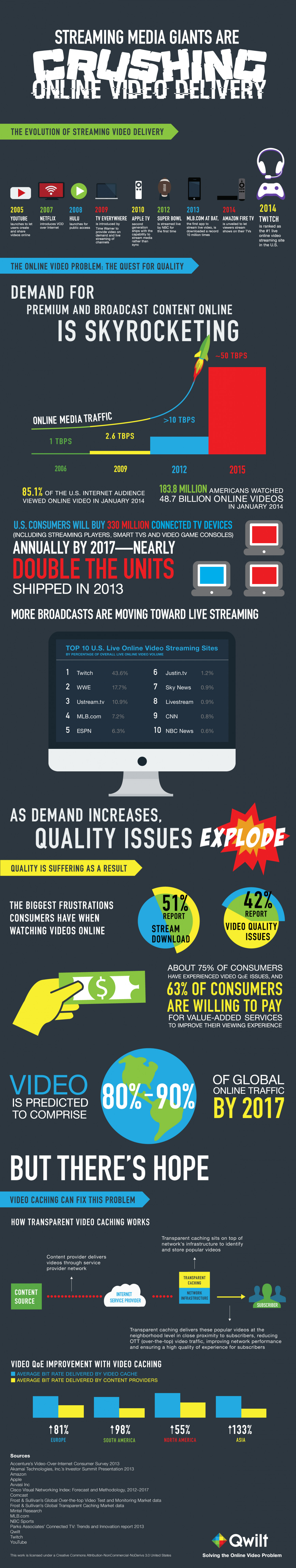 Streaming Media Giants are Crushing Online Video Delivery   Infographic