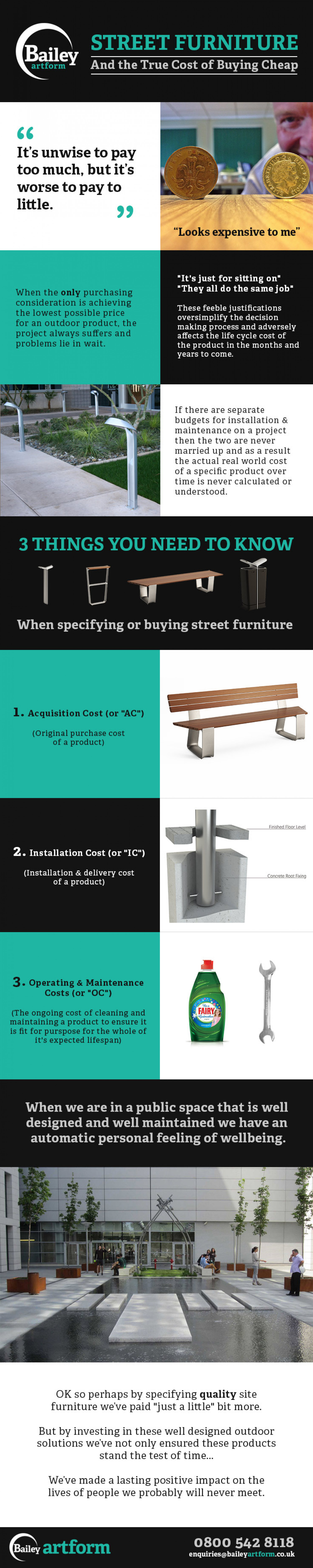 Street Furniture and the True Cost of Buying Cheap Infographic