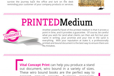 Strengths of a Printed Document Infographic