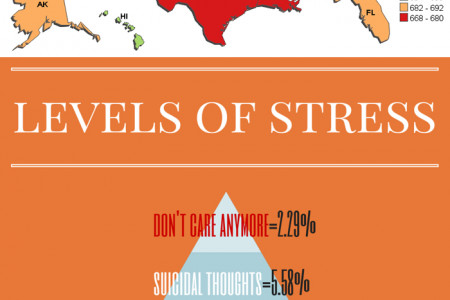 Stress by Debt Infographic