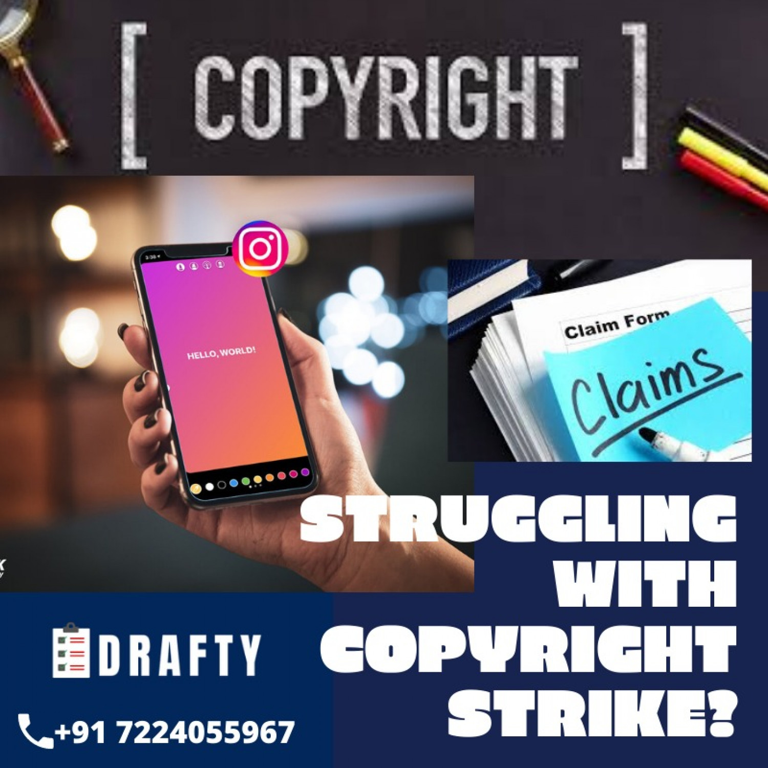 Struggling with copyright strike? Infographic