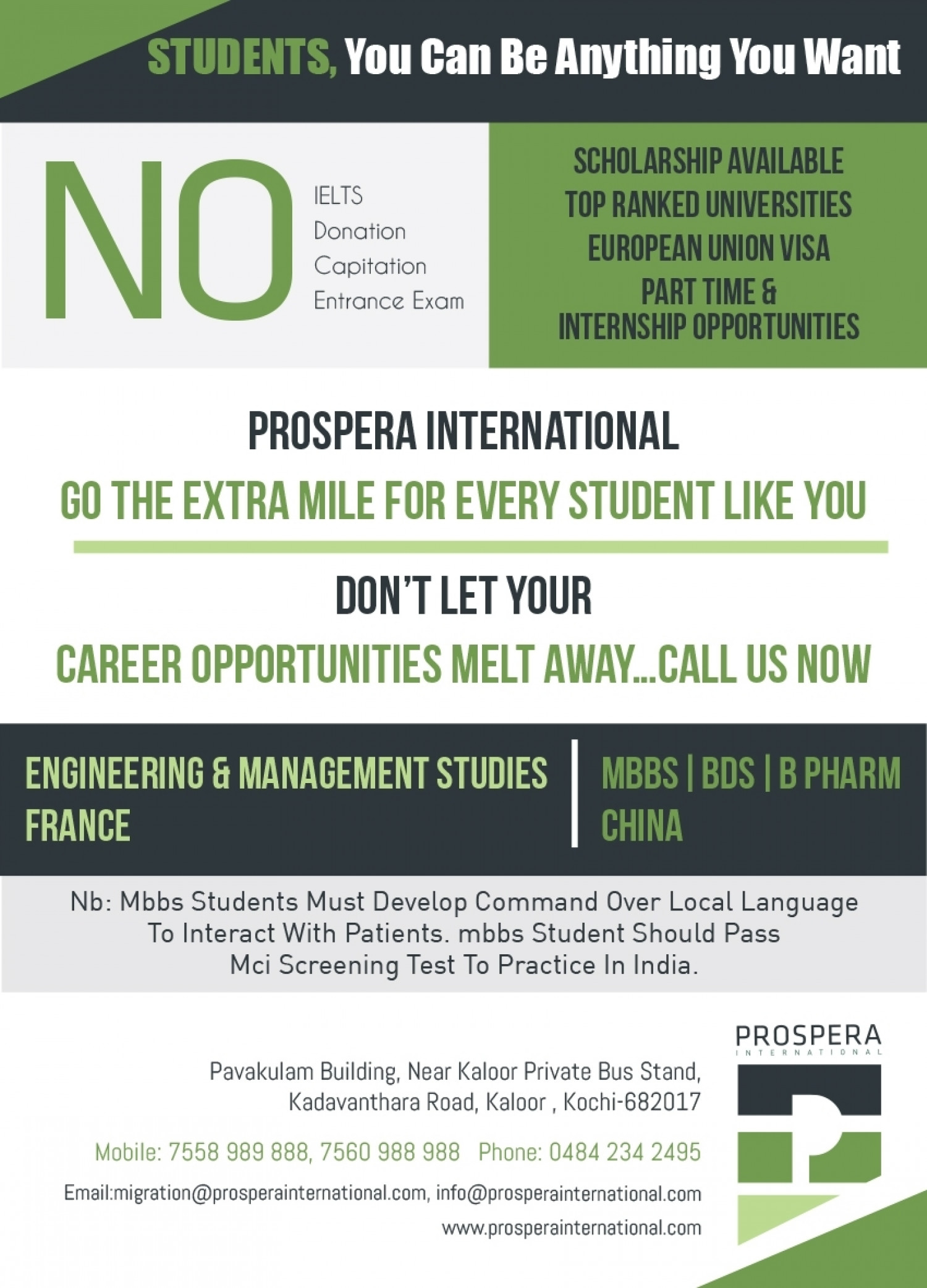 STUDENTS, BECOME ANYONE YOU ASPIRE Infographic