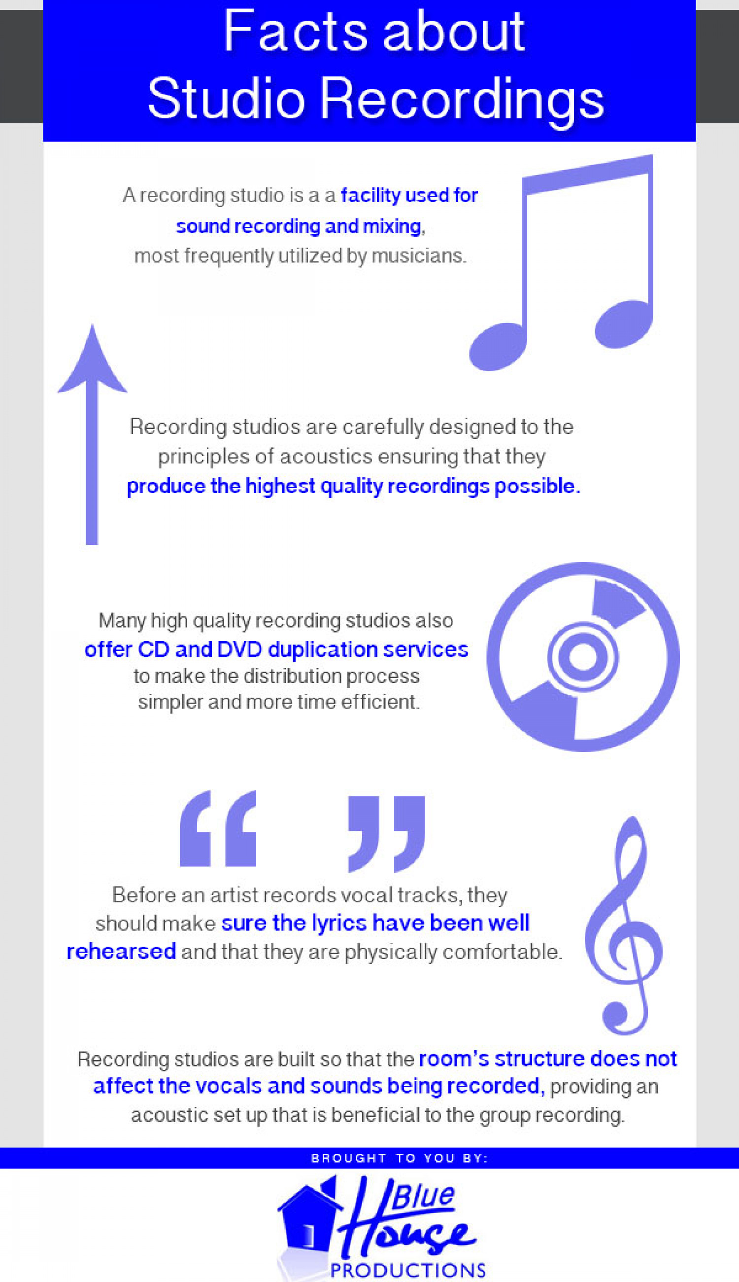 Facts about Studio Recordings Infographic