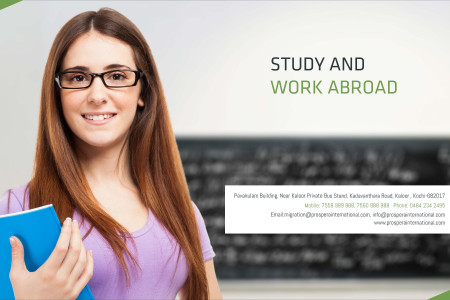Study and Work abroad Infographic