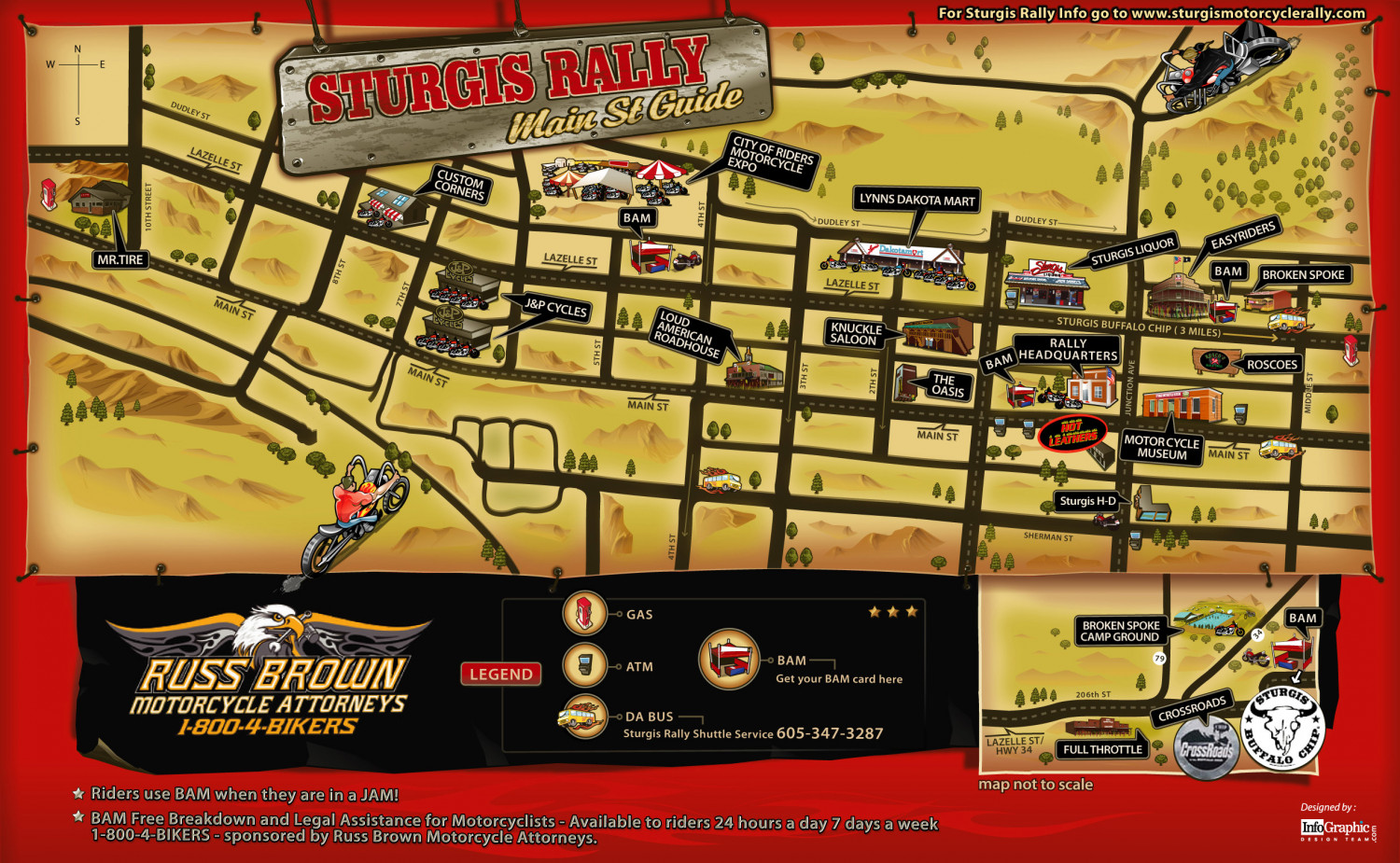 Sturgis Motorcycle Rally Main St Guide Infographic