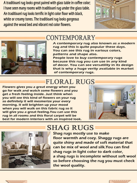 Style, Fun and Practical - Area Rugs for Every Room Infographic
