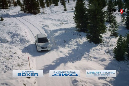 Subaru Commercial Switzerland ICEBEAR Infographic