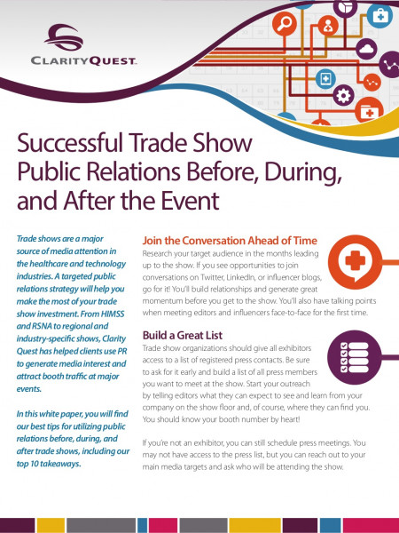 Successful Trade Show Public Relations Before, During, and After the Event Infographic