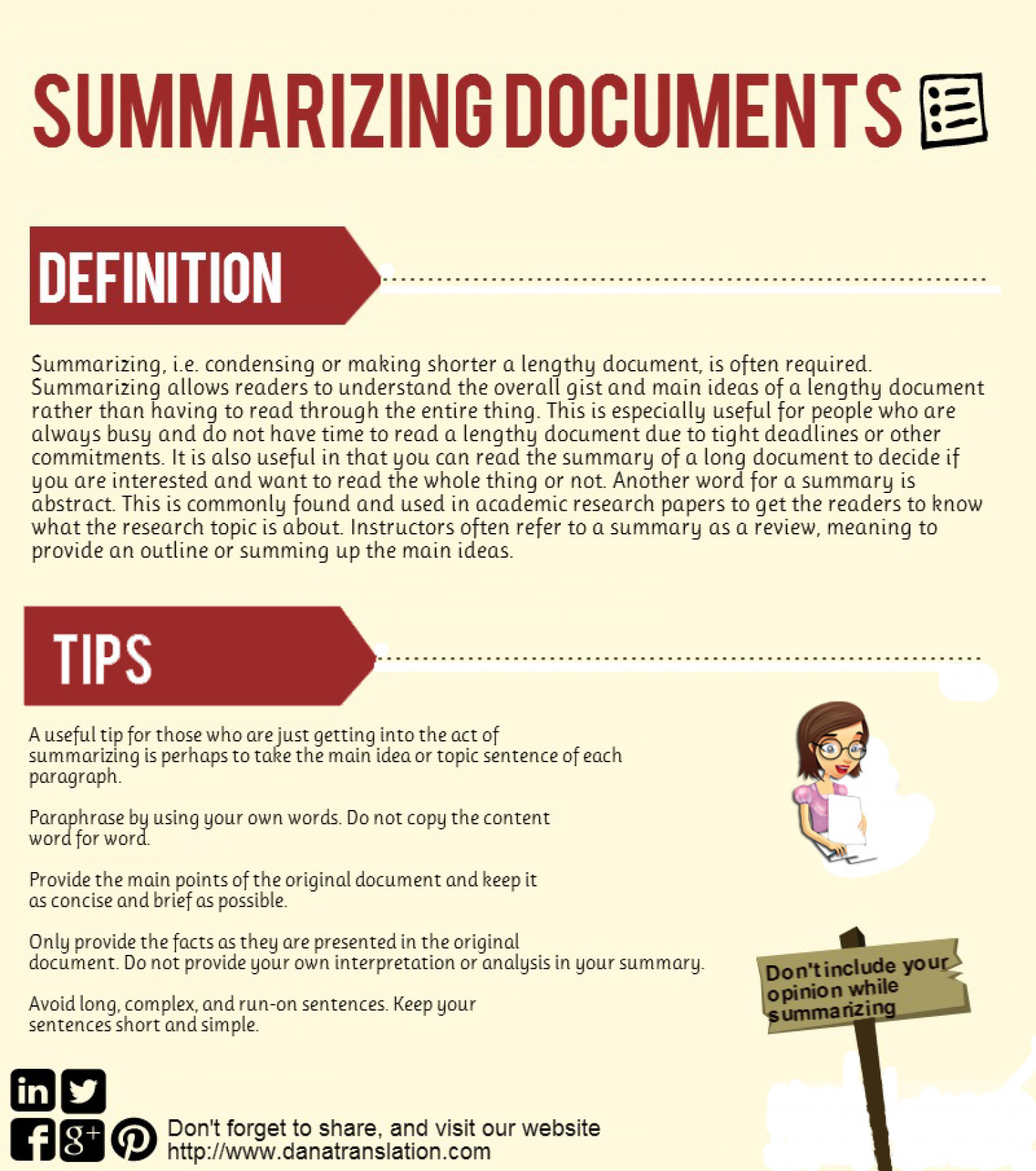 Summarizing Documents [INFOGRAPHIC] Infographic