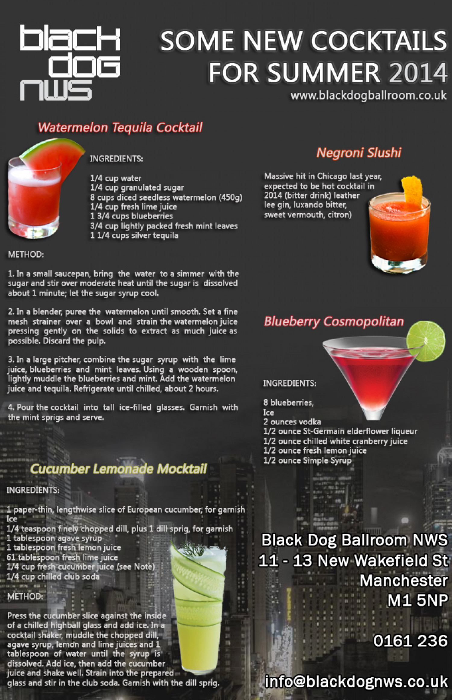 Summer 2014 Cocktails Infographic