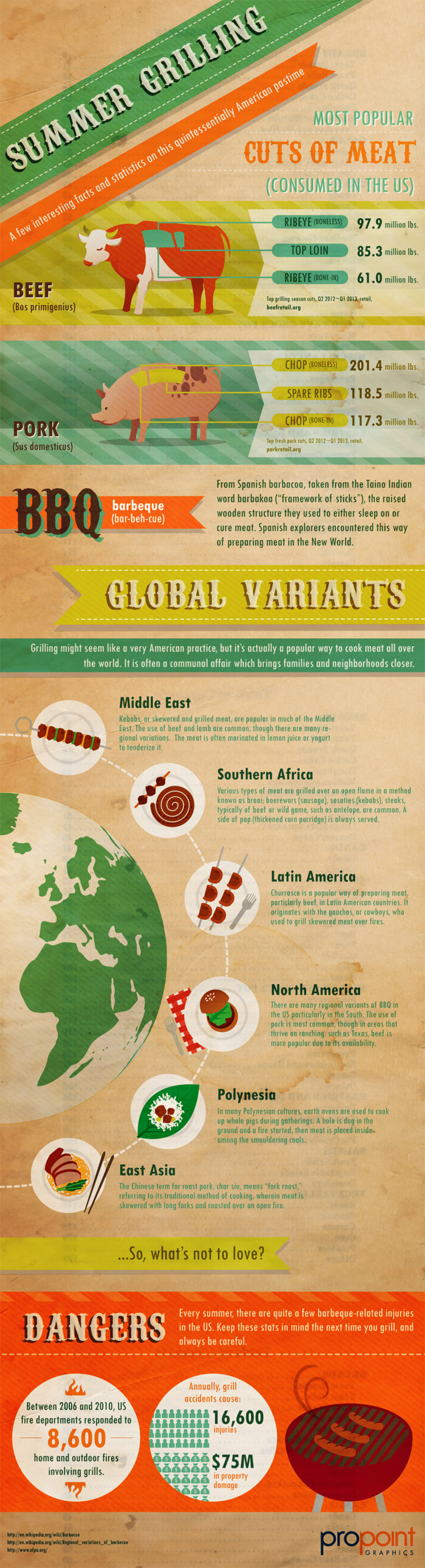 Summer Grilling Facts Infographic