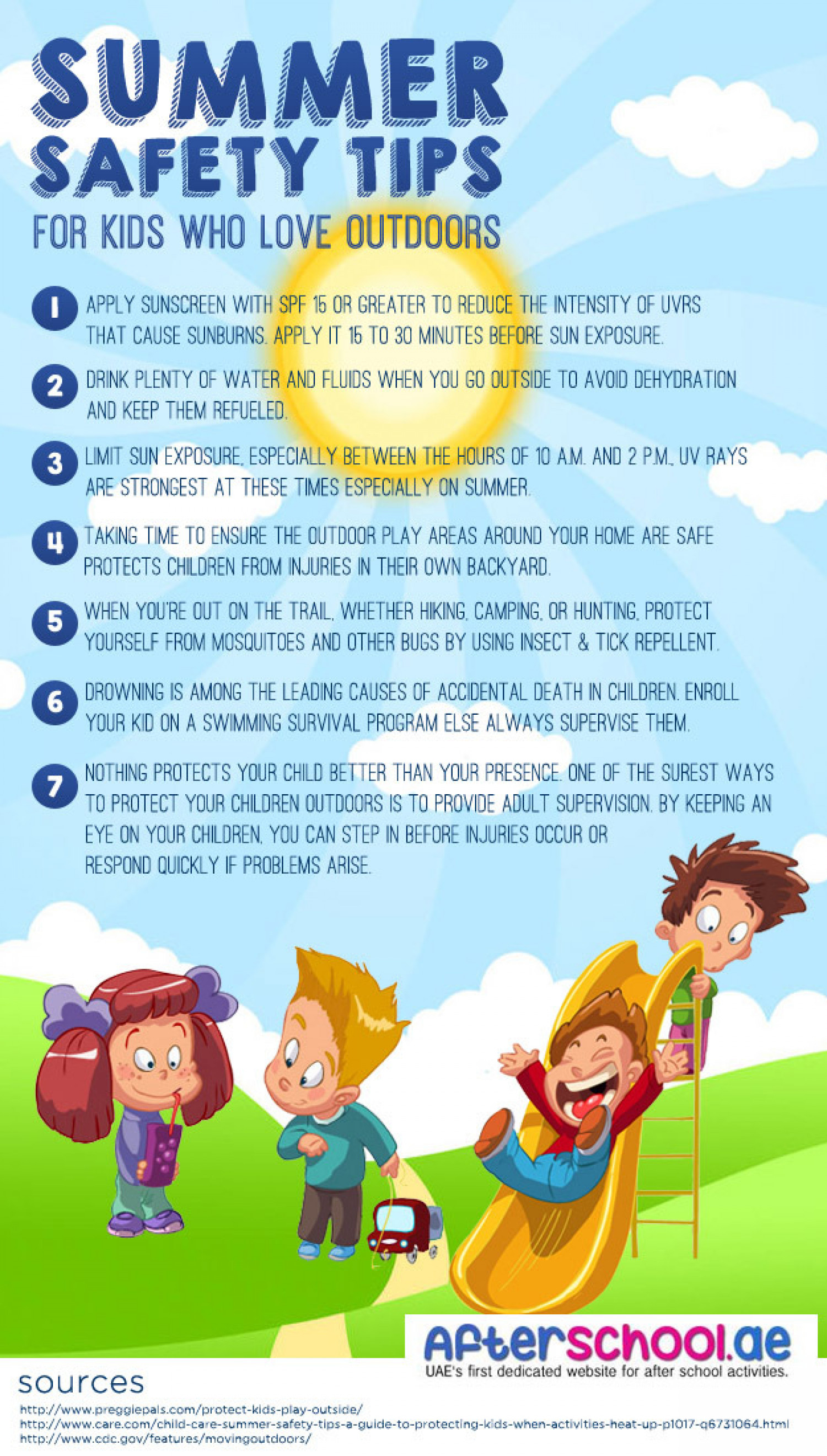 Summer safety tips for kids for Home safety facts