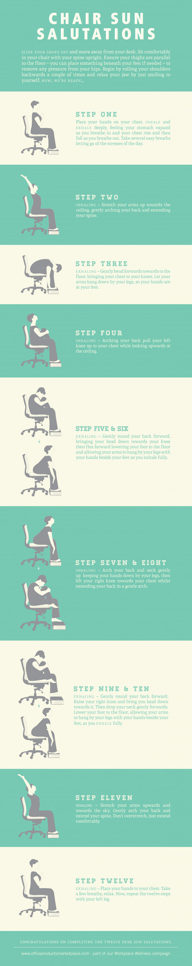 Sun Salutations at Your Desk