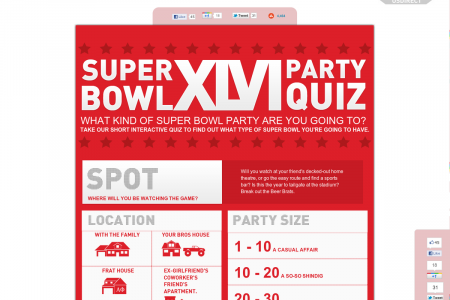 Super Bowl Party Quiz Infographic