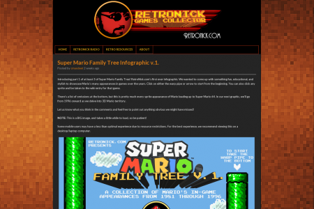 Super Mario Family Tree v.1. Infographic