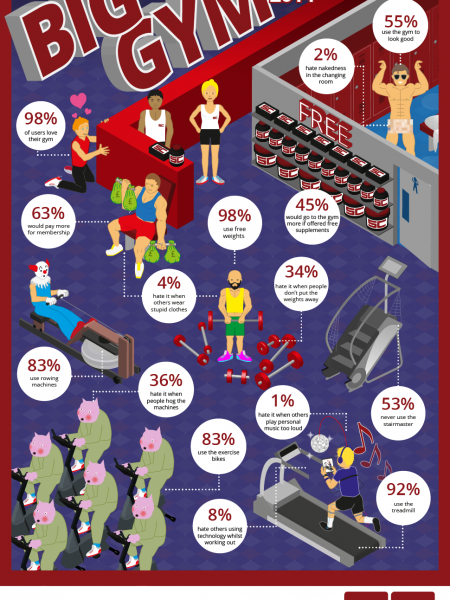 Supplement Centre Big Gym Survey 2014 Infographic