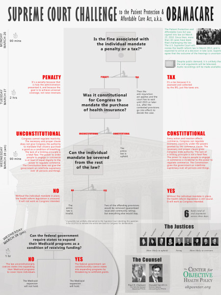 Supreme Court Challenge to the Patient Protection & ObamaCare Infographic