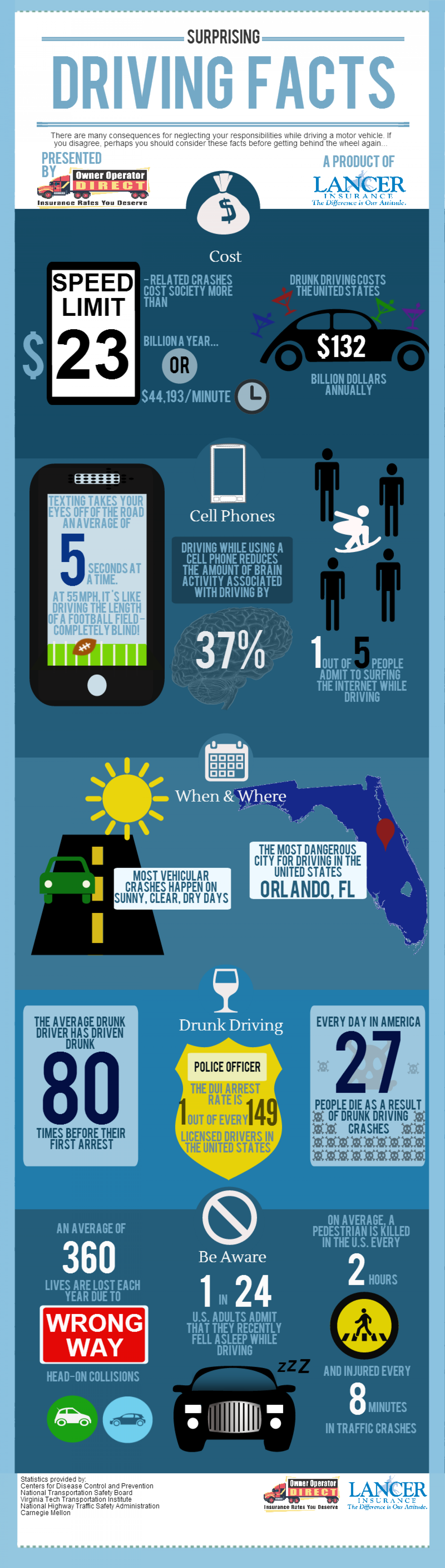 Surprising Driving Facts Infographic