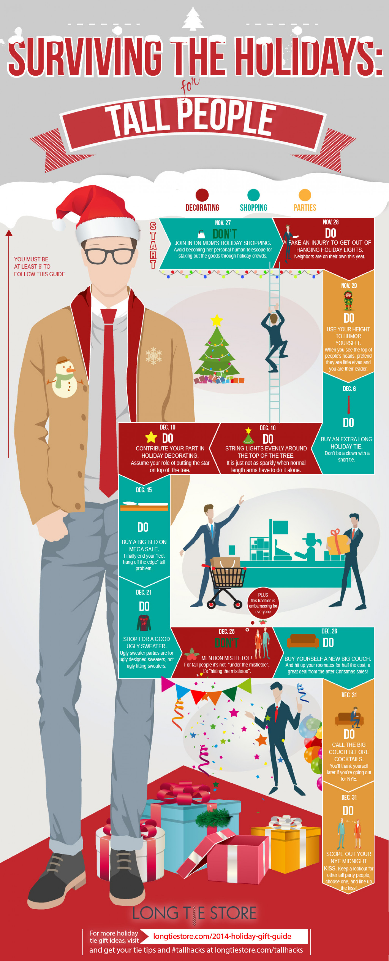 Surviving the Holidays for Tall People Infographic