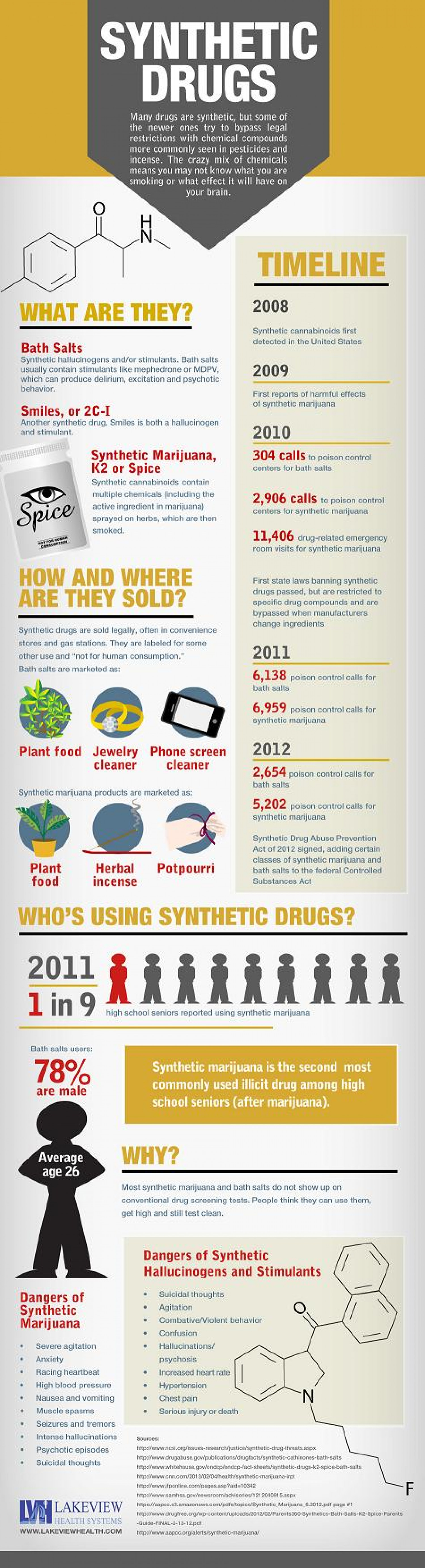 Synthetic Drugs: Who's Using and the Dangers Infographic