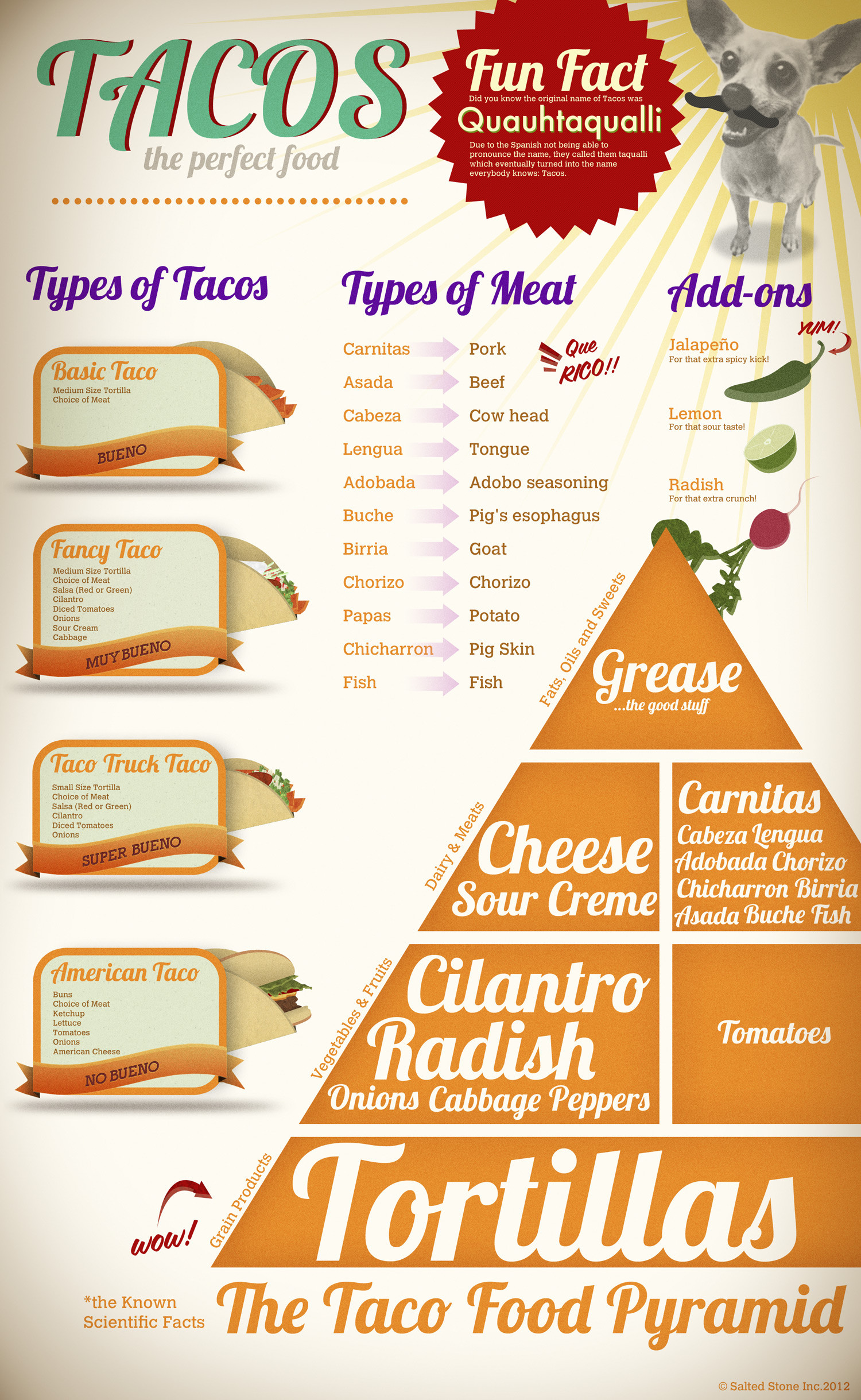 Tacos - The Perfect Food Infographic