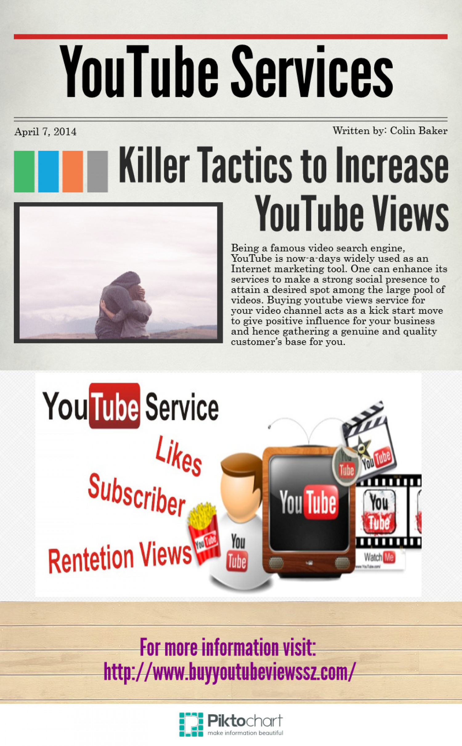 Tactics to Increase YouTube Views Infographic