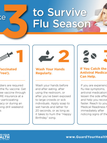 Take 3 to Survive Flu Season Infographic