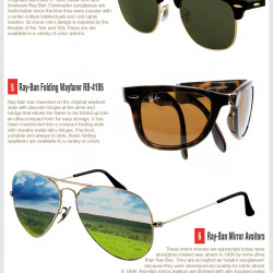 Eyeglass Frame Visualizer : Take A Peek At The Top 10 Ray-Ban Sunglasses Visual.ly