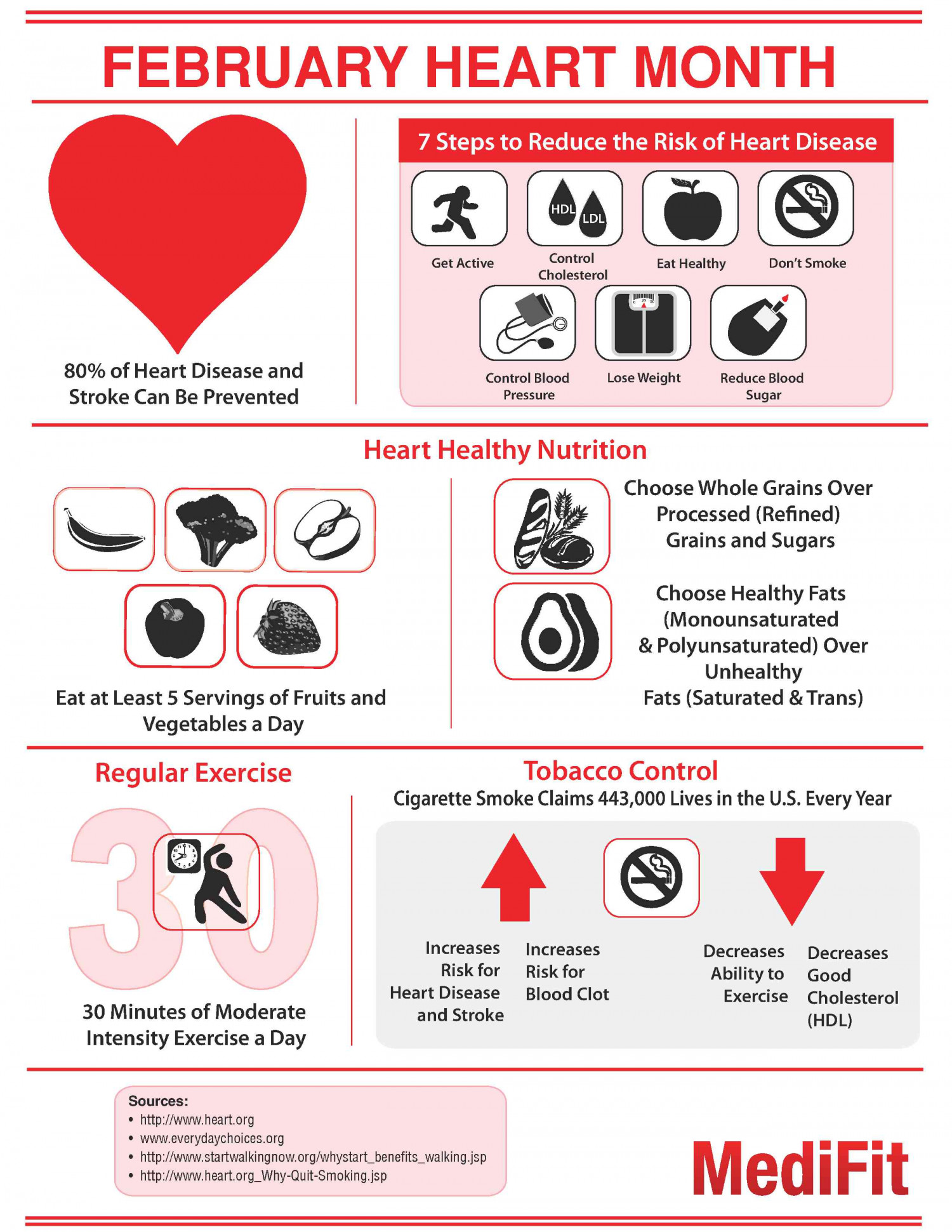Take Steps Towards Heart Health Infographic