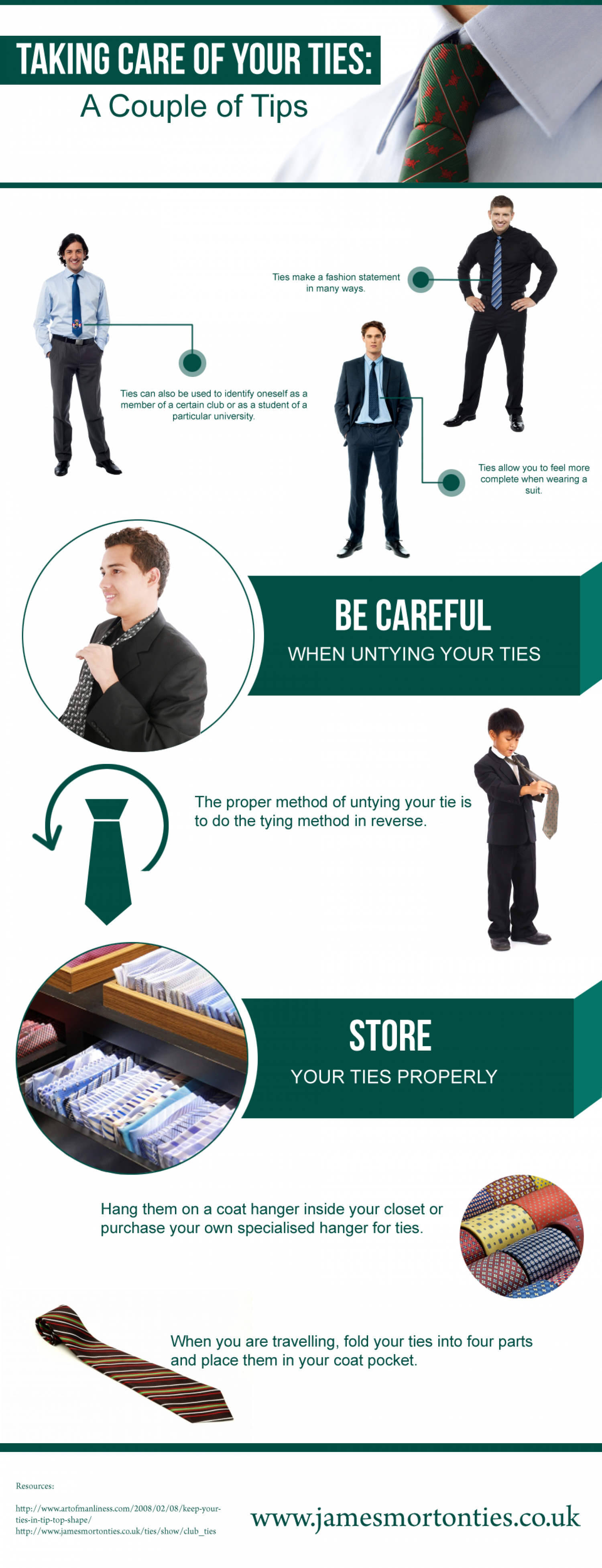 Taking Care of Your Ties: A Couple of Tips Infographic